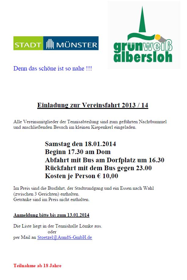 Seniorenfahrt Winter 2013/14